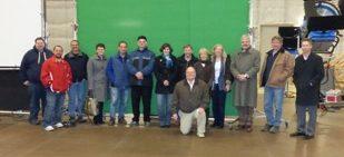 Devens area businesses take facility tour of New England Studios.