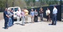 photo businesses on a tour of a solar farm
