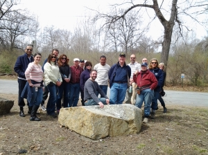 photo of Deven area employees enjoying a hike on Earth Day